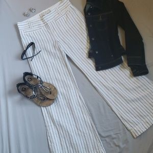 Old Navy Wide Leg Pin Striped Pants